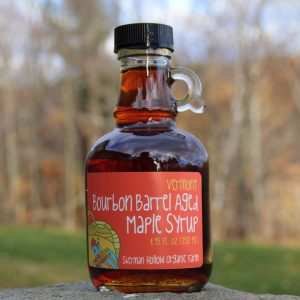 Sherman Hollow Farm 8.45oz bottle of Bourbon Barrel Aged Maple Syrup