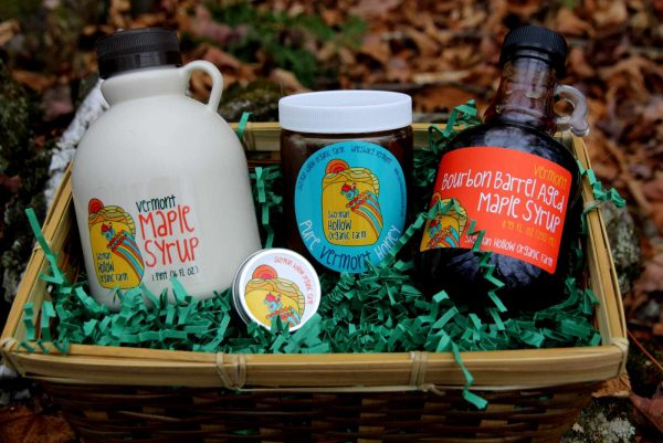 Maple Syrup and Honey Gift Basket